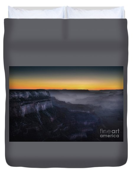 Grand Canyon At Twilight Duvet Cover by RicardMN Photography