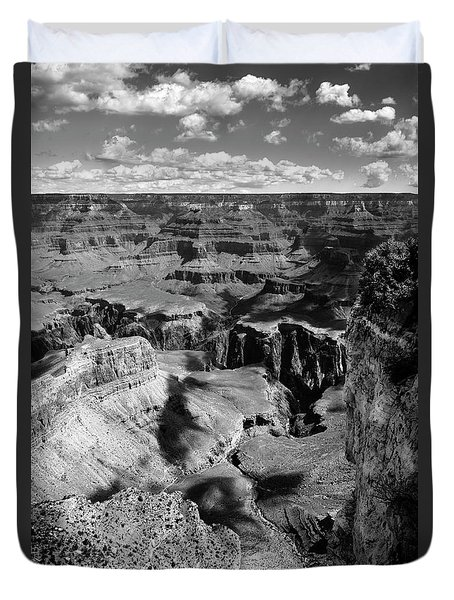 Grand Canyon Bw Duvet Cover by RicardMN Photography