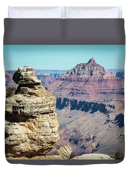 Grand Canyon Duck On A Rock Duvet Cover