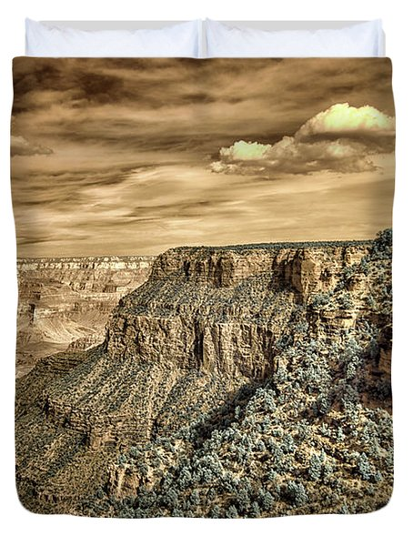 Grand Canyon In Infrared Duvet Cover