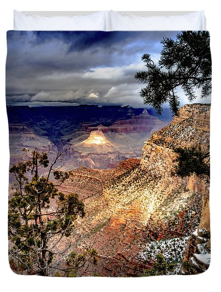 Grand Canyon In Winter Duvet Cover
