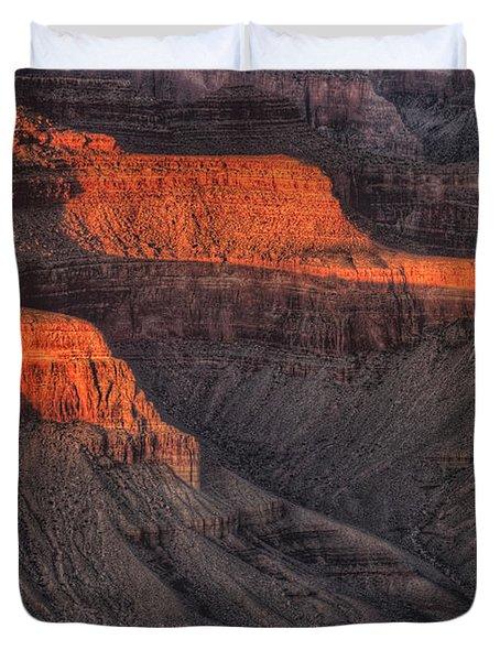 Grand Canyon Light Duvet Cover by Steve Gadomski