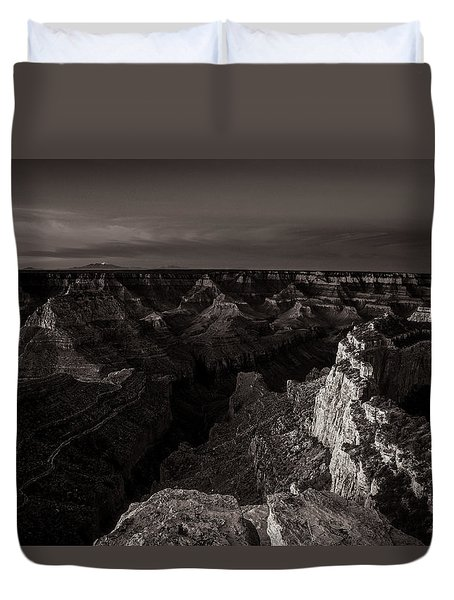 Grand Canyon Monochrome Duvet Cover