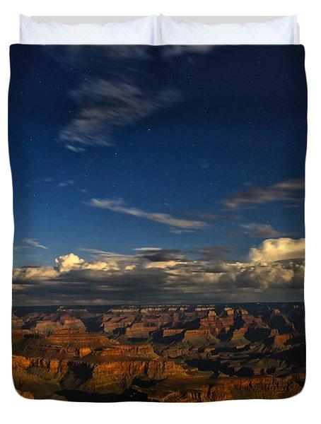 Grand Canyon Moonlight Duvet Cover