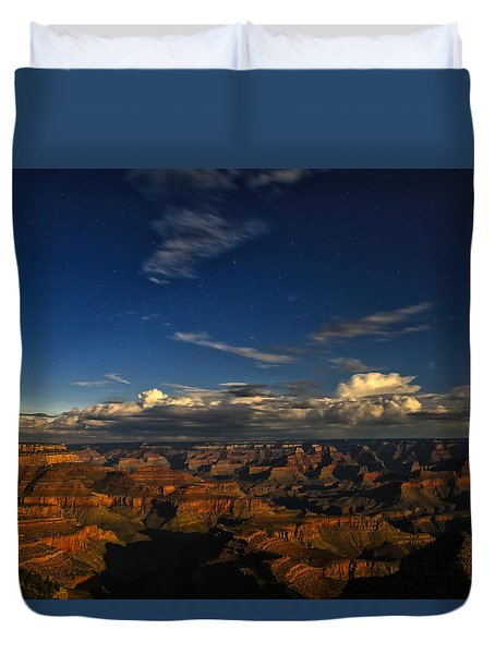 Duvet Cover featuring the photograph Grand Canyon Moonlight by James Menzies