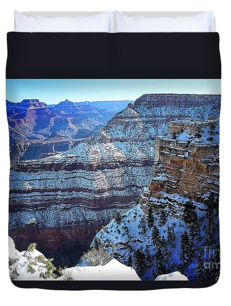Grand Canyon National Park In Winter Duvet Cover