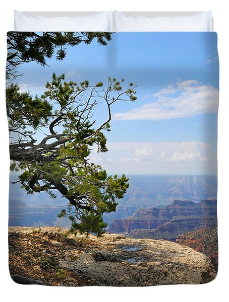 Grand Canyon North Rim Craggy Cliffs Duvet Cover