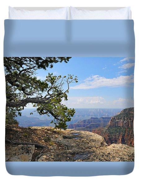 Grand Canyon North Rim Craggy Cliffs Duvet Cover