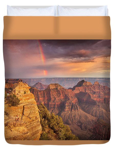 Grand Canyon North Rim Rainbow Duvet Cover