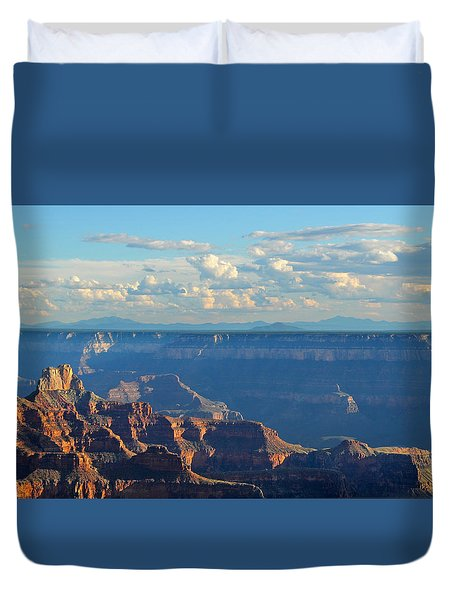 Grand Canyon North Rim Sunset San Francisco Peaks Duvet Cover