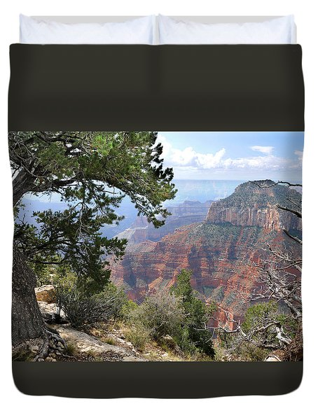 Grand Canyon North Rim - Through The Trees Duvet Cover