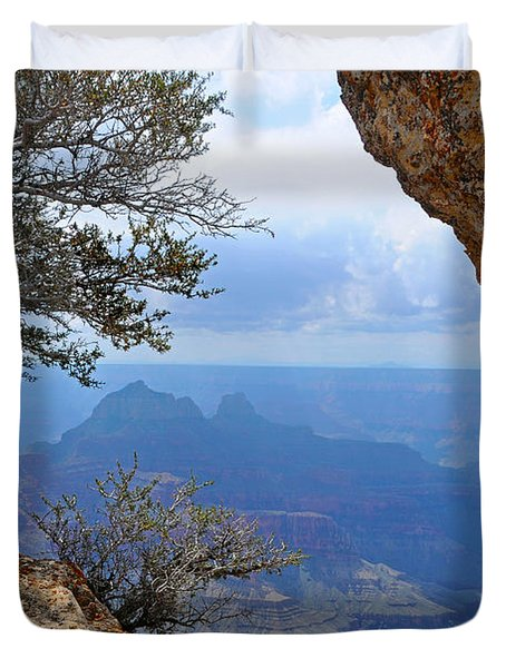 Grand Canyon North Rim Window In The Rock Duvet Cover
