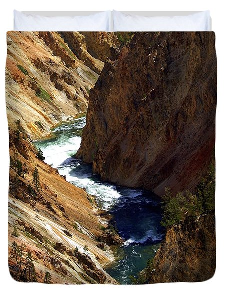 Grand Canyon Of The Yellowstone 1 Duvet Cover by Marty Koch