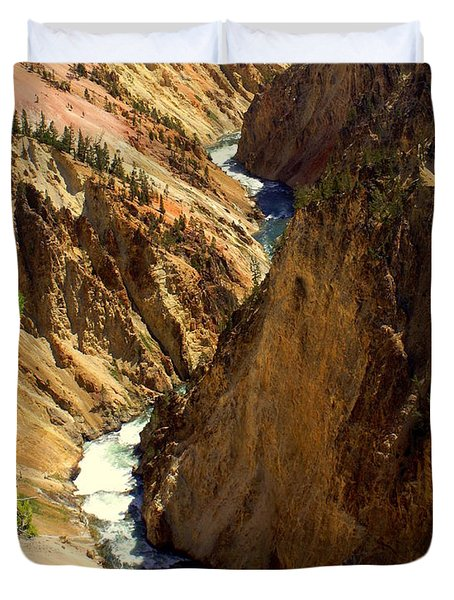 Grand Canyon Of The Yellowstone 2 Duvet Cover by Marty Koch