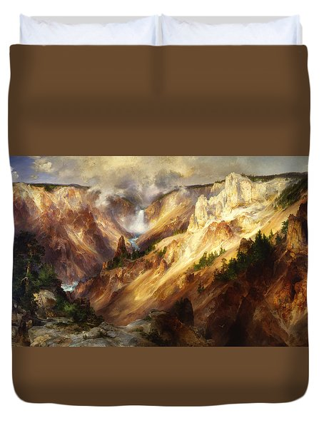 Grand Canyon Of The Yellowstone Duvet Cover