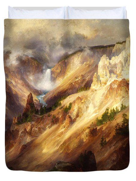 Grand Canyon Of The Yellowstone Duvet Cover by Thomas Moran