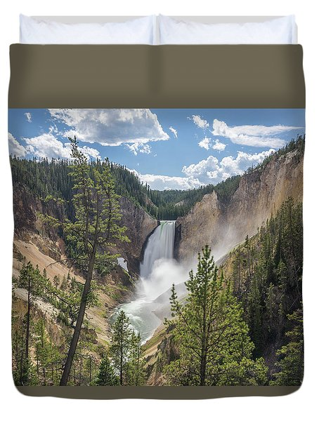 Grand Canyon Of Yellowstone Duvet Cover by Alpha Wanderlust