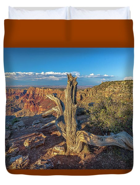Duvet Cover featuring the photograph Grand Canyon Old Tree by Steven Sparks