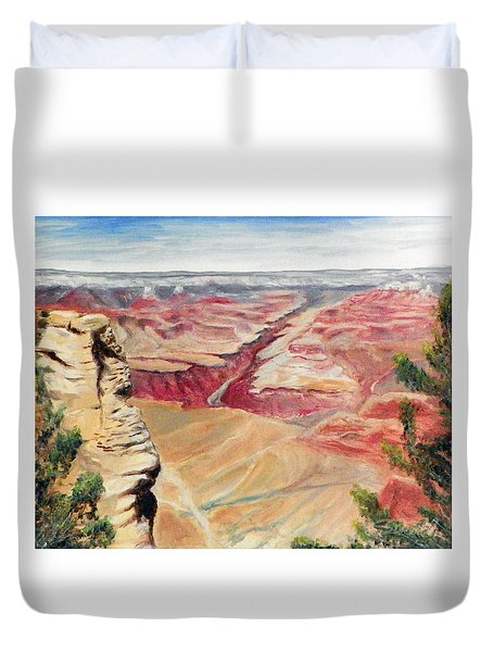 Grand Canyon Overlook Duvet Cover