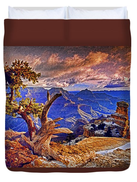 Grand Canyon Pine Duvet Cover by Dennis Cox WorldViews