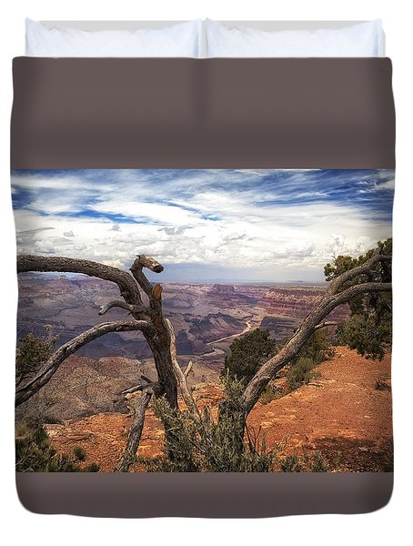 Grand Canyon River View Duvet Cover