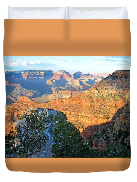 Grand Canyon South Rim At Sunset Duvet Cover