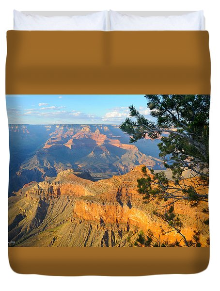 Grand Canyon South Rim - Pine At Right Duvet Cover