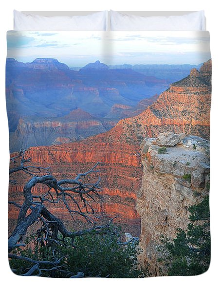 Grand Canyon South Rim - Red Hues At Sunset Duvet Cover