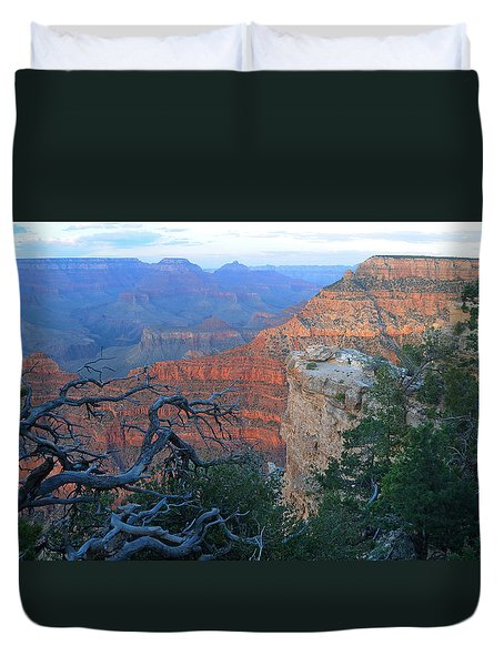 Grand Canyon South Rim - Red Hues At Sunset Duvet Cover