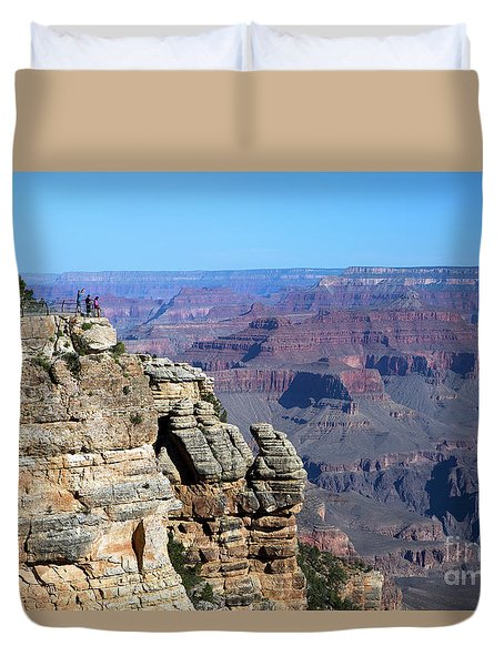 Duvet Cover featuring the photograph Grand Canyon South Rim by Steven Frame
