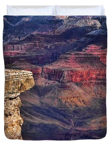 Grand Canyon Stacked Rock Duvet Cover