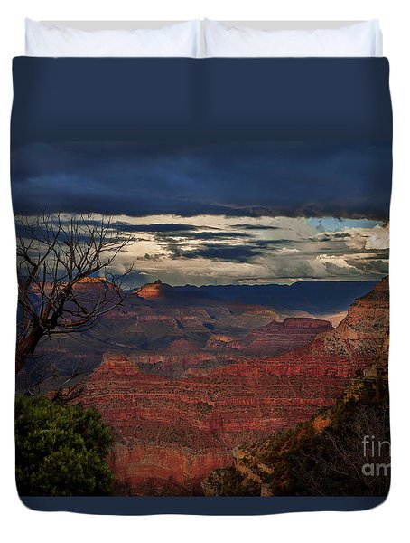 Grand Canyon Storm Clouds Duvet Cover