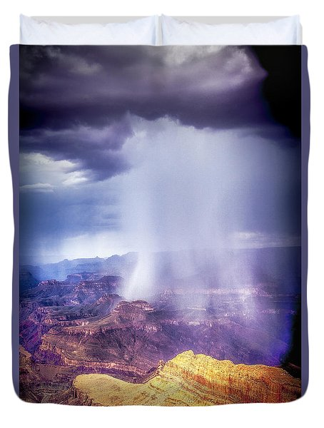 Grand Canyon Summer Storm Duvet Cover