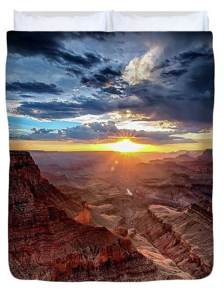 Grand Canyon Sunburst Duvet Cover