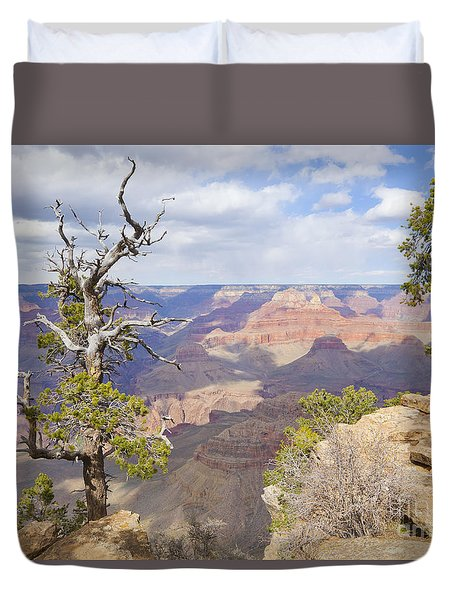 Duvet Cover featuring the photograph Grand Canyon View by Chris Dutton
