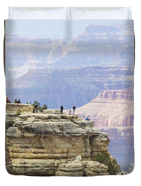Duvet Cover featuring the photograph Grand Canyon Vista by Chris Dutton