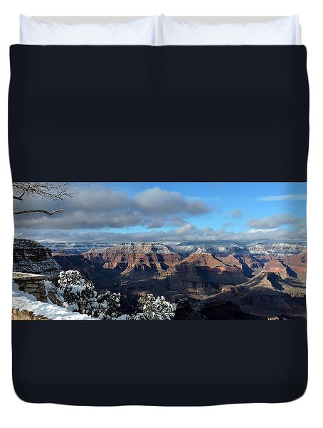 Grand Canyon Winter Vista Duvet Cover