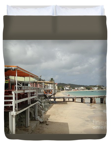 Grand Case Pier Duvet Cover