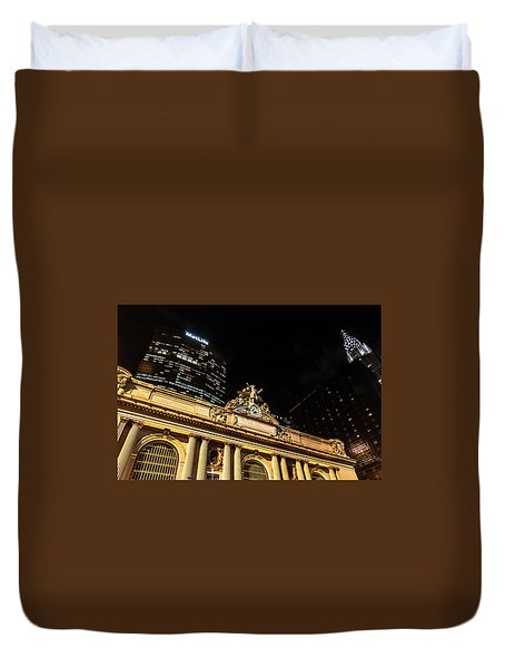 Grand Central Nocturne Duvet Cover by Steven Richman