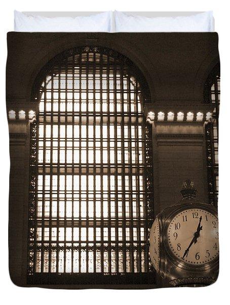 Grand Central Station Duvet Cover by Henri Irizarri