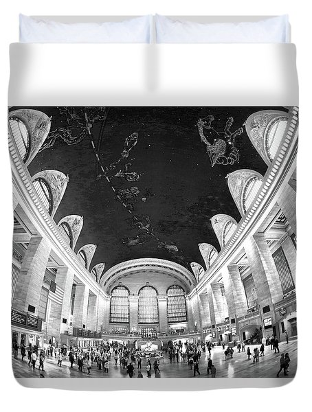 Duvet Cover featuring the photograph Grand Central Station by Mitch Cat