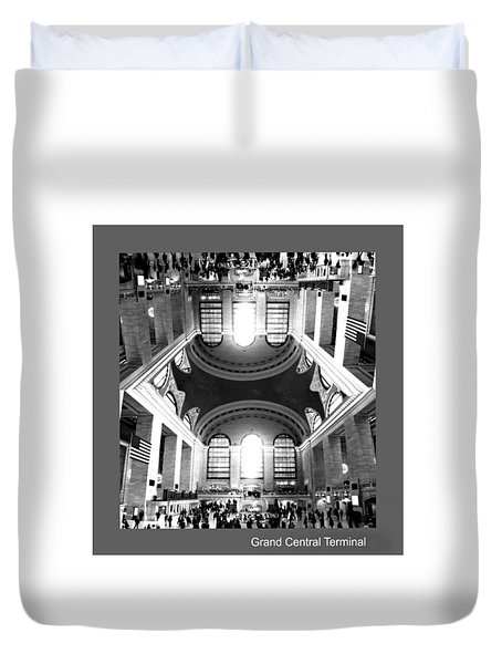 Duvet Cover featuring the photograph Grand Central Terminal Mirrored by Diana Angstadt