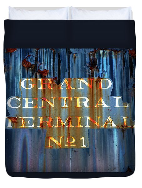 Duvet Cover featuring the photograph Grand Central Terminal No 1 by Karol Livote