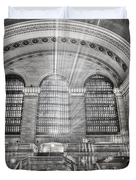 Duvet Cover featuring the photograph Grand Central Terminal Station by Susan Candelario