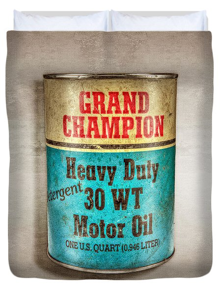 Grand Champion Motor Oil Duvet Cover