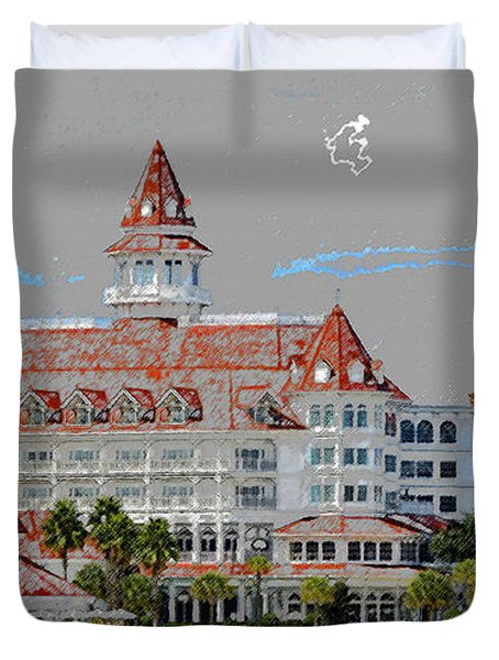 Grand Floridian In Summer Duvet Cover