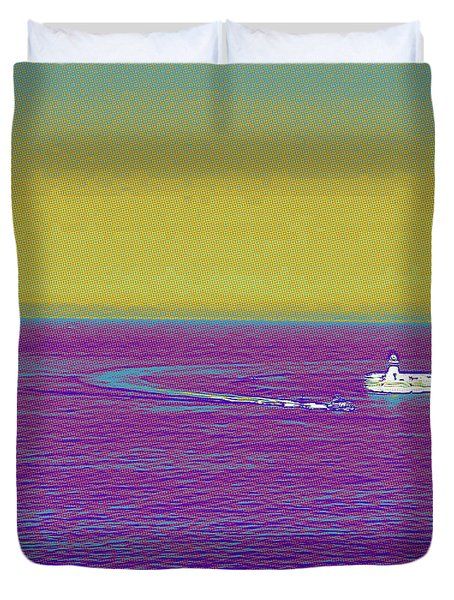 Purple Sea Duvet Cover