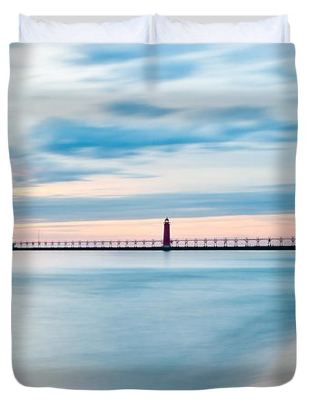 Grand Haven Pier - Smooth Waters Duvet Cover