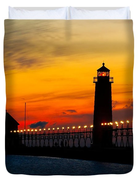 Grand Haven Sunset Duvet Cover