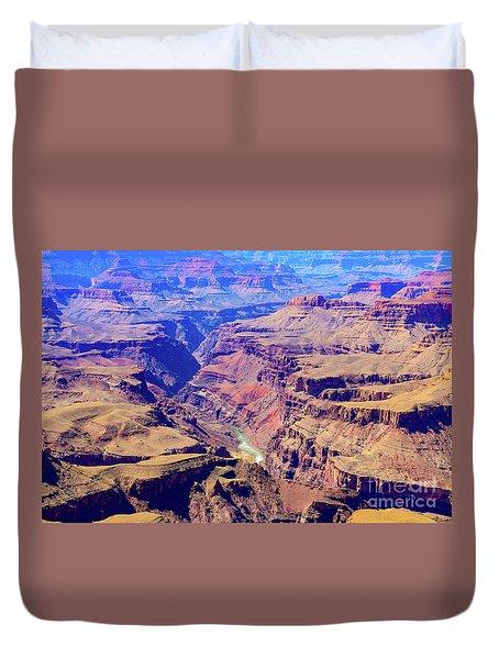 Grand Haze Canyon Duvet Cover